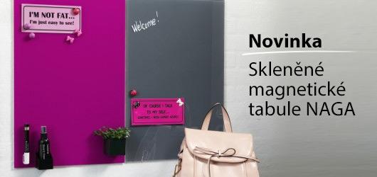Uniexpo: Skleněné magnetické tabule NAGA